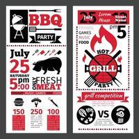 barbecue BBQ-sjabloon ontwerp vector