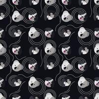 schattige koala dier patroon vectorillustratie vector