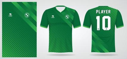 groen sportshirt sjabloon voor teamuniformen en voetbal t-shirtontwerp vector