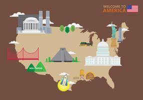 Welkom in de VS. Poster van de Verenigde Staten van Amerika.