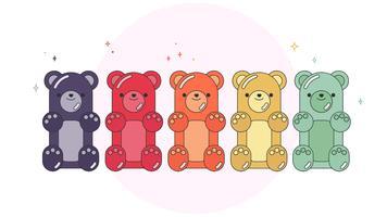 gummy bears vector