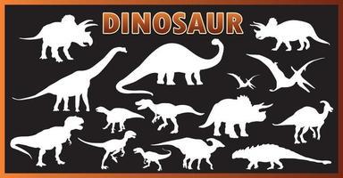 dinosaurus silhouet set vector