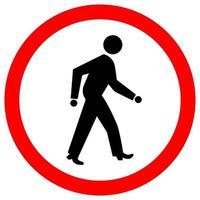 verkeersbord voor voetgangers vector