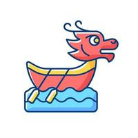 Dragon Boat Festival RGB-kleur pictogram vector