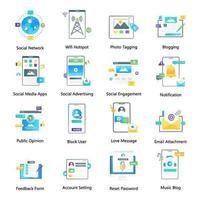 sociale verbindingen en online inhoud vector