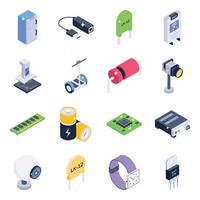 elektrische gereedschappen en elementen vector