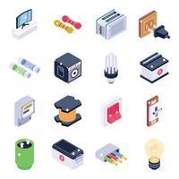 elektronica gereedschappen en elementen vector