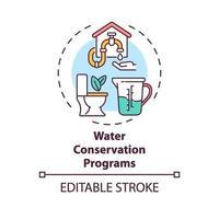 waterbesparing programma's concept pictogram vector