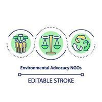 milieu belangenbehartiging ngo's concept pictogram vector
