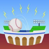 Uitstekende honkbalparkvectoren vector