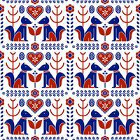 Scandinavische folk patroon naadloos