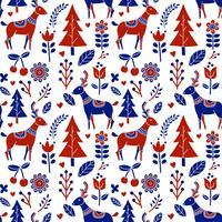 Scandinavische folk patroon vector
