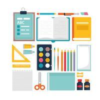 Vector Terug naar school Essentials
