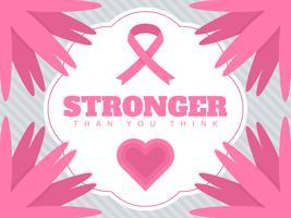 Mooie borstkanker bewustzijn sociale media vectoren
