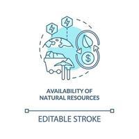 natuurlijke hulpbronnen beschikbaarheid concept pictogram vector