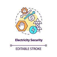 elektriciteit concept beveiligingspictogram vector
