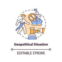 geopolitieke situatie concept pictogram vector