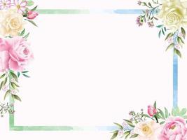 romantische bloemen aquarel achtergrond vector