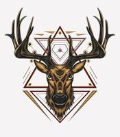 herten vector kunst ontwerp met ornament