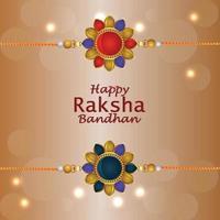 gelukkige raksha bandhan uitnodigings wenskaart met creatieve geschenken vector