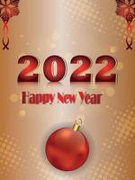 gelukkig nieuwjaarsviering flyer op creatieve achtergrond vector