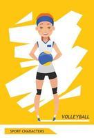 sport karakters volleybal speler vector ontwerp