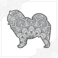 hond mandala. vintage decoratieve elementen. oosters patroon, vectorillustratie. vector