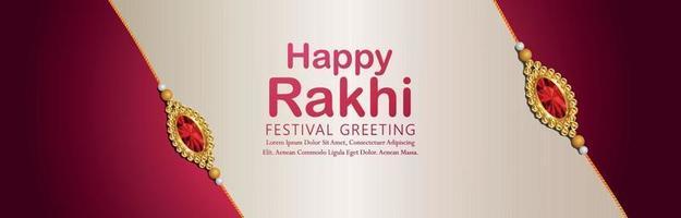 Indisch festival gelukkig raksha bandhan-festival van broer en zus vector