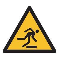 pas op obstakels symbool teken vector
