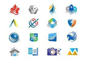 abstracte zakelijke moderne logo iconen collectie vector