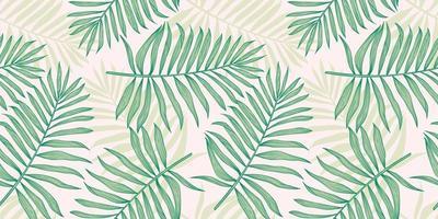 tropisch naadloos patroon met palmbladen vector