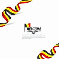 België onafhankelijkheidsdag viering vector sjabloon ontwerp illustratie