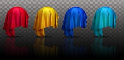 set van kleur abstracte zwevende stoffen doeken vector