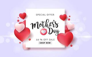 moederdag verkoop poster banner achtergrond vector