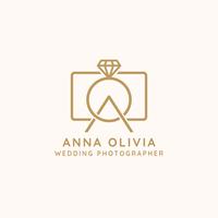 Bruiloft fotograaf Logo Vector