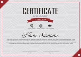 certificaat van waardering sjabloon, multifunctionele certificaatrand met badgeontwerp vector
