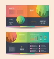 zakelijke tweevoudige brochureontwerp en bedrijfsmarketing flyer ontwerp vector