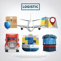 gekleurde logistieke poster vector