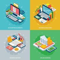 bankbedrijf ontwerp concept vectorillustratie vector
