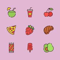 lekker eten voor de zomer vector