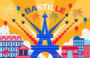 feest van bastille frankrijk vector