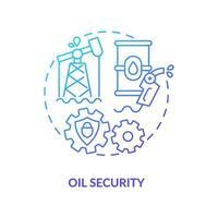 olie concept beveiligingspictogram vector