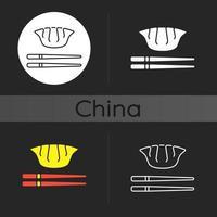 jiaozi donker thema icoon vector