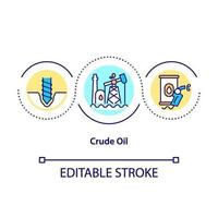 ruwe olie concept pictogram vector