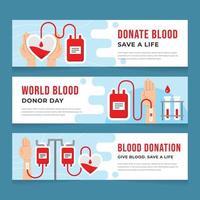 doneer bloed red een leven banner vector