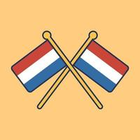 nederland vlag pictogram vector