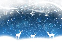 Kerst achtergrond met herten