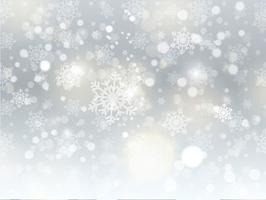 Kerst sneeuwvlok achtergrond vector
