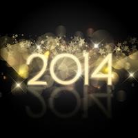 Sterren Nieuwjaar achtergrond vector