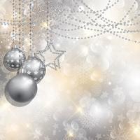 Zilveren Kerstmis achtergrond vector
